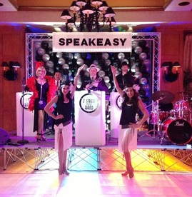 www.zstreetspeakeasyband.com,  Z Street Gatsby Band. Casino band Orlando, Florida. The Ultimate casino theme entertainment band.