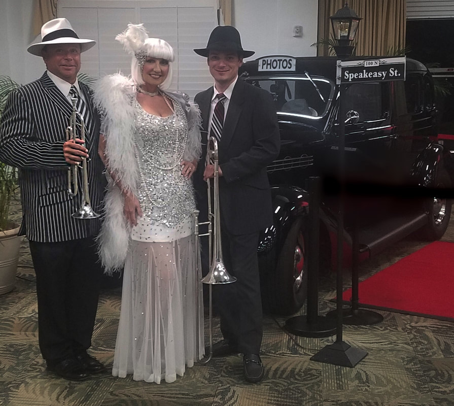 www.zstreetspeakeasyband.com, Speakeasy Band Orlando, Florida, Gatsby Band, Roaring 20's, Hollywood Theme,Speakeasy Entertainment, Gatsby Entertainment Orlando, Florida