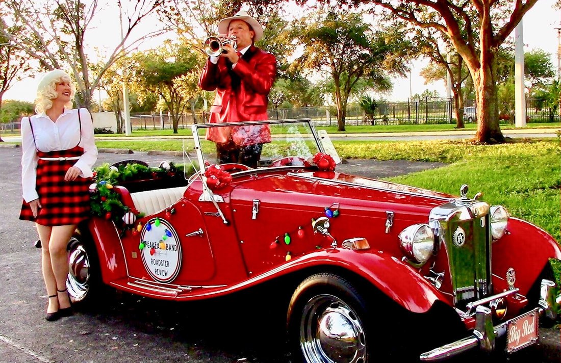 Jazz Band, Swing Band, Gatsby Band, Classic Antique Roadster,  Windermere and Isleworth, Florida.