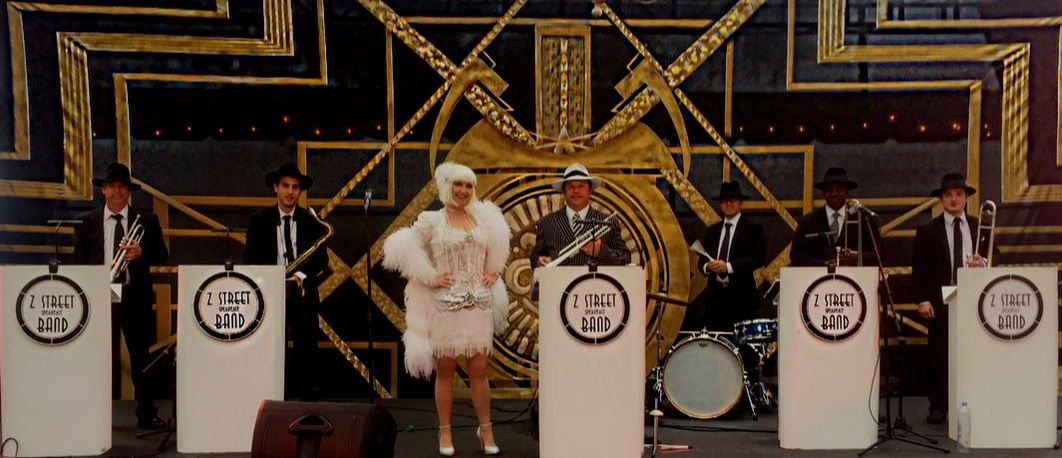 The Z Street Speakeasy Band performing for Corporate Gatsby themed awards dinner.