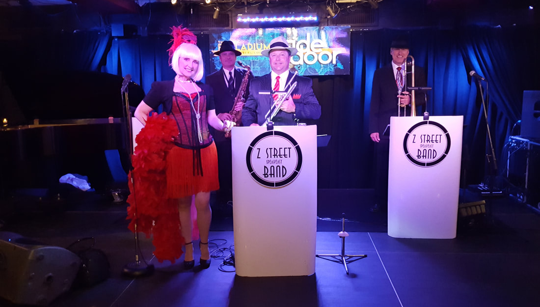 Gatsby Band,20s Band, Speakeasy Band, Z Street Speakeasy Band, Orlando, Tampa, Sarasota, Clearwater, Ybor City, Florida, Maimi,